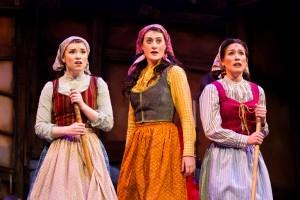 Meredith Kochan (Chava), Yael Wartens (Tzeitel) and Katelin Spencer (Hodel) in Light Opera Works' FIDDLER ON THE ROOF.