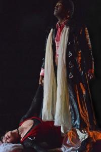 Nmon Ford (Macbeth) and Suzan Hansen (Lady Macbeth)  Photo Credit Keith Ian Polakoff