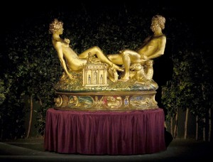 Re-creation of Benvenuto Cellini's SALTCELLAR for Pageant of the Masters' THE ART DETECTIVE, 2014.