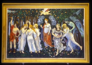 Re-creation of Boticelli's PRIMAVERA for Pageant of the Masters' THE ART DETECTIVE, 2014.