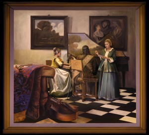 Re-creation of Vermeer's THE CONCERT for Pageant of the Masters' THE ART DETECTIVE, 2014.