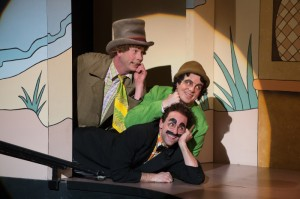 Resistance is futile. But you can try. Harpo (Brent Hinkley), Chico (John Tufts) and Groucho (Mark Bedard). Photo by Jenny Graham.
