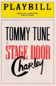 Stage Door Charley with Tommy Tune (Program Cover)