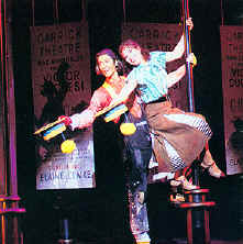 Tommy Tune & Darcie Roberts in Busker Alley on tour.