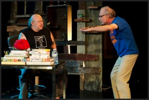 Tony Fitzpatrick with Stan Klein in THE MIDNIGHT CITY at Steppenwolf Theatre - photo by Anthony Aicardi.