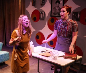 Abbey Smith and Brynne Barnard in Interrobang Theatre Project's production of Caryl Churchill's OWNERS. Photo by Emily Schwartz.