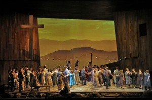 Act I Church Square Dance in San Francisco Opera's SUSANNAH.