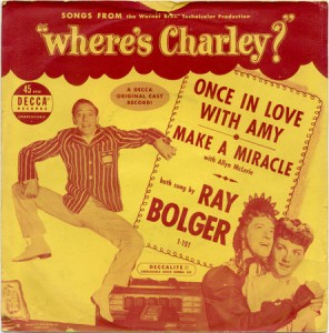 Album cover of the film, WHERE'S CHARLEY