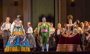 Ana Maria Martinez, Antonio Poli, and Marina Rebekain in DON GIOVANNI, directed by Robert Falls for Lyric Opera of Chicago. Photo by Todd Rosenberg.