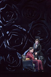 Antonio Poli and Marina Rebeka in DON GIOVANNI, directed by Robert Falls for Lyric Opera of Chicago. Photo by Todd Rosenberg.