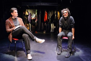 BEN CROWLEY and NICHOLAS CUTRO in The Blank Theatre's THE WHY. Photo by Anne McGrath
