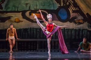 Christine Rocas in PRODIGAL SON, part of Joffrey Ballet's STORIES IN MOTION - photo by Cheryl Mann.