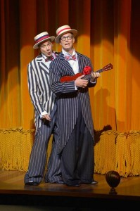 David Shiner and Bill Irwin in OLD HATS at A.C.T.'s Geary Theater. Photo by Kevin Berne.