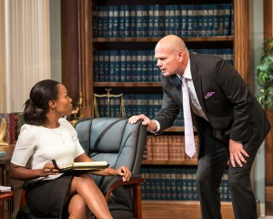 DeWanda Wise and Chris Bauer in RACE by David Mamet