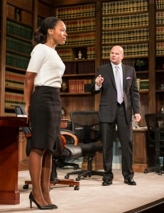 DeWanda Wise and Chris Bauer in RACE by David Mamet.