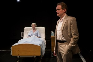 Deanna Dunagan and Raymond Fox in DEATH TAX at Lookingglass Theatre. Photo by Liz Lauren.