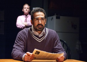 Dennis William Grimes and Demetrios Troy in TimeLine's DANNY CASOLARO DIED FOR YOU. Photo by Lara Goetsch.