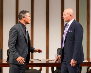 Dominic Hoffman and Chris Bauer in RACE by David Mamet.