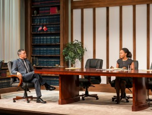 Dominic Hoffman and DeWanda Wise in RACE by David Mamet