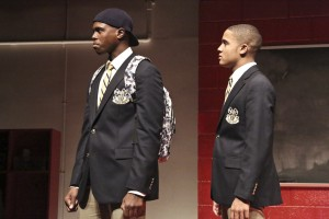 Donovan Mitchell and Nicholas L. Ashe in CHOIR BOY at the Geffen Playhouse - photo by Michael Lamont.