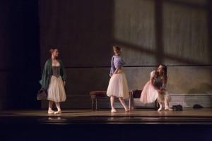 Elizabeth Hansen, Alexis Polito, and Cara Marie Gary of The Joffrey Ballet in Christopher Wheeldon's SWAN LAKE - Photo by Cheryl Mann.