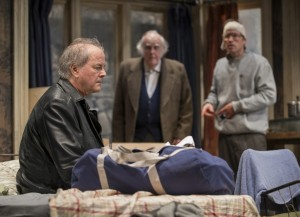 Francis Guinan, M. Emmet Walsh and Tim Hopper in Steppenwolf Theatre Company's production of The Night Alive by Conor McPherson, directed by Henry Wishcamper. Photo by Michael Brosilow.