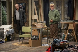Francis Guinan and Tim Hopper in Steppenwolf Theatre Company's production of The Night Alive by Conor McPherson, directed by Henry Wishcamper. Photo by Michael Brosilow.