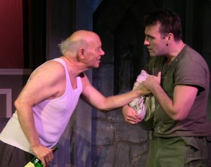 Fred Wellisch (Jimmy Connelly) and Mickey O'Sullivan (Charlie Connelly) in MIRACLES IN THE FALL.