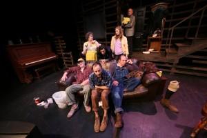 (Front) Leon Russom, David Fraioli, Cris D'Annunzio, (Back) Jacque Lynn Colton, Zachary Mooren, Tonya Cornelisse, and Grant Smith inWhitefire Theatre's BURIED CHILD.