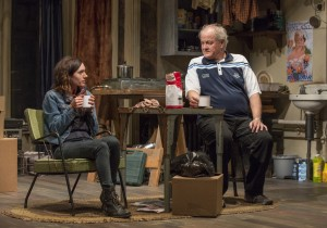 Helen Sadler and Francis Guinan in Steppenwolf Theatre Company's production of The Night Alive by Conor McPherson, directed by Henry Wishcamper. Photo by Michael Brosilow.