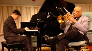 Justin Kauflin and Clark Terry in KEEP ON KEEPIN' ON