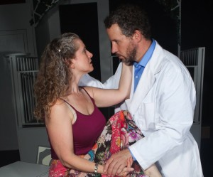 Laura Sturm (Ana), Joe McCauley (Charles) in Bluebird Arts' THE CLEAN HOUSE. Photo by Anthony La Penna.