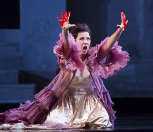 Marina Rebeka in DON GIOVANNI, directed by Robert Falls for Lyric Opera of Chicago. Photo by Todd Rosenberg.