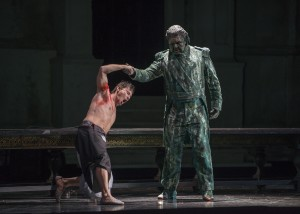 Mariusz Kwiecień and Andrea Silvestrelli in DON GIOVANNI, directed by Robert Falls for Lyric Opera of Chicago. Photo by Todd Rosenberg.