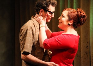 Matt Browning and Brynne Barnard in Interrobang Theatre Project's production of Caryl Churchill's OWNERS. Photo by Emily Schwartz.