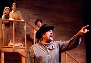 Michael Manuel and Ensemble in Impro Theatre's THE WESTERN UNSCRIPTED at the Falcon Theatre.