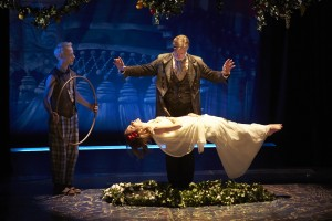 Nate Dendy, Tom Nelis, and Charlotte Graham in THE TEMPEST by William Shakespeare at South Coast Rep. Photo by Geri Kodey.