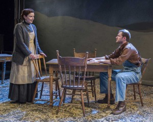 Olivia Killingsworth and Quinlan Corbett in ICEBOUND at Metropolitan Playhouse. Photo by Jacob J. Goldberg.