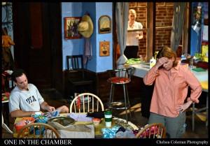 Robert Bella, Emily Peck, & HeidiSulzman in ONE IN THE CHAMBER