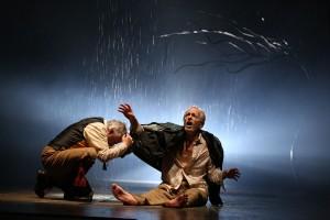 Ross Lehman and Larry Yando in Chicago Shakespeare's KING LEAR - photo by Liz Lauren.