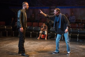 Shane Kenyon and Thomas J Cox in SEASON ON THE LINE at The House Theatre of Chicago. Photo by Michael Brosilow.