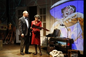 Sherman Howard and Stacy Ross in Lauren Gunderson's BAUER at 59E59 Theaters. Photo by Carol Rosegg