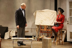 Sherman Howard and Stacy Ross in Lauren Gunderson's BAUER at 59E59 Theaters. Photo by Carol Rosegg.