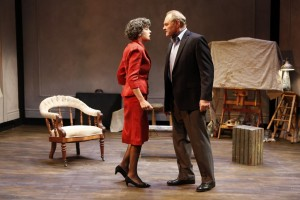 Stacy Ross and Sherman Howard in Lauren Gunderson's BAUER at 59E59 Theaters. Photo by Carol Rosegg
