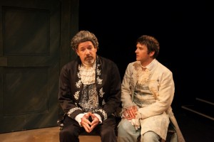 Stephen Walker as Nathaniel and Brian Plocharcyzk as Lucidus in THE COWARD by Nick Jones, Stage Left Theatre. Photo by Johnny Knight.