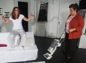 Susan Steinmeyer (Lane), Deborah Hearst (Virginia) in Bluebird Arts' THE CLEAN HOUSE. Photo by Anthony La Penna.