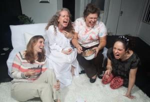 Susan Steinmeyer (Lane), Laura Sturm (Ana), Deborah Hearst (Virginia), Jaimelyn Gray (Matilde) in Bluebird Arts' THE CLEAN HOUSE. Photo by Anthony La Penna.