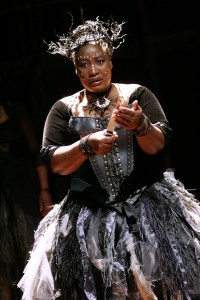 The Queen of the Night (Pauline Malefane) in Isango Ensemble's THE MAGIC FLUTE. Photo by Keith Pattison.