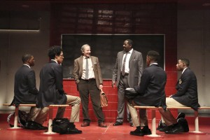 The cast of CHOIR BOY at the Geffen Playhouse. Photo by Michael Lamont.