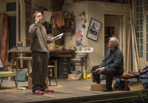 Tim Hopper and Francis Guinan in Steppenwolf Theatre Company's production of The Night Alive by Conor McPherson, directed by Henry Wishcamper. Photo by Michael Brosilow.